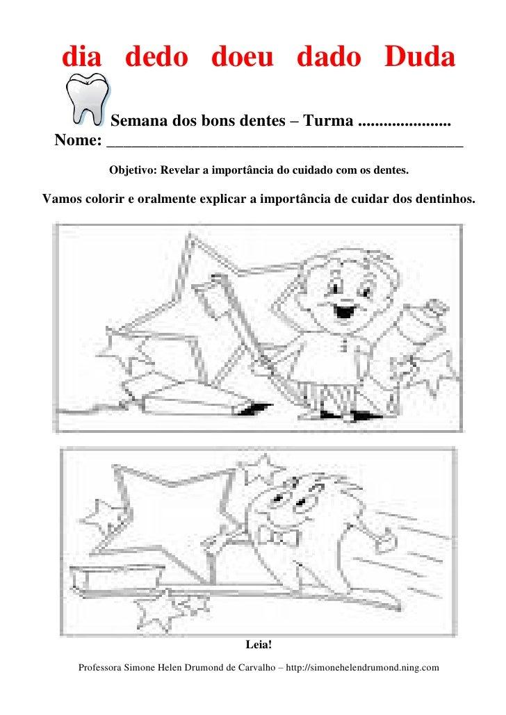 Populares PARTE 4 - Plano semana dos bons dentes de simone helen drumond (esco… XY13