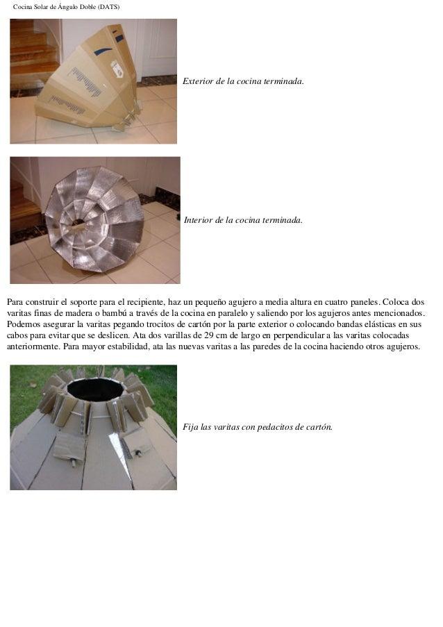 planos para construir una cocina solar