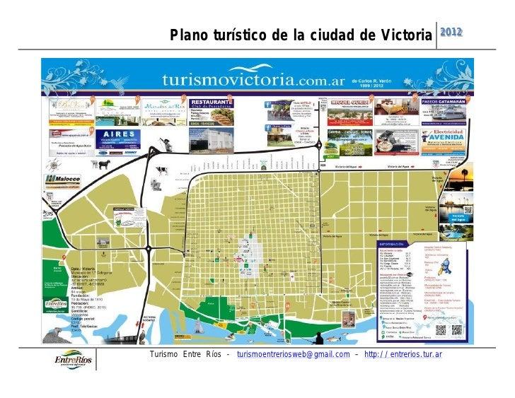 Plano turístico de la ciudad de Victoria                              2012Turismo Entre Ríos - turismoentreriosweb@gmail.c...