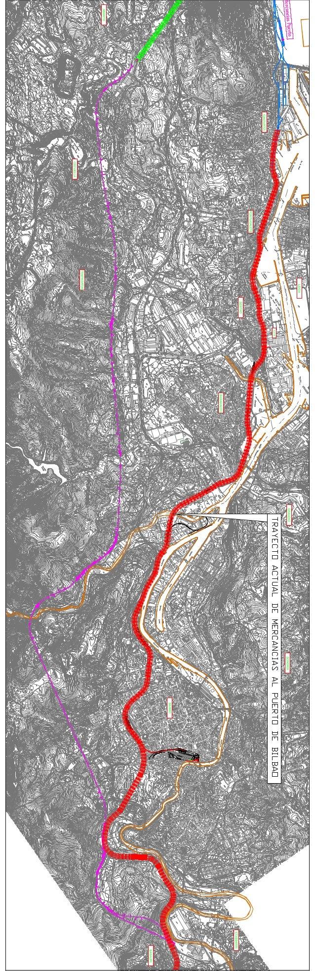 Plano de la Variante Sur Ferroviaria //  Hegoaldeko Trenbide Bariantearen planoa