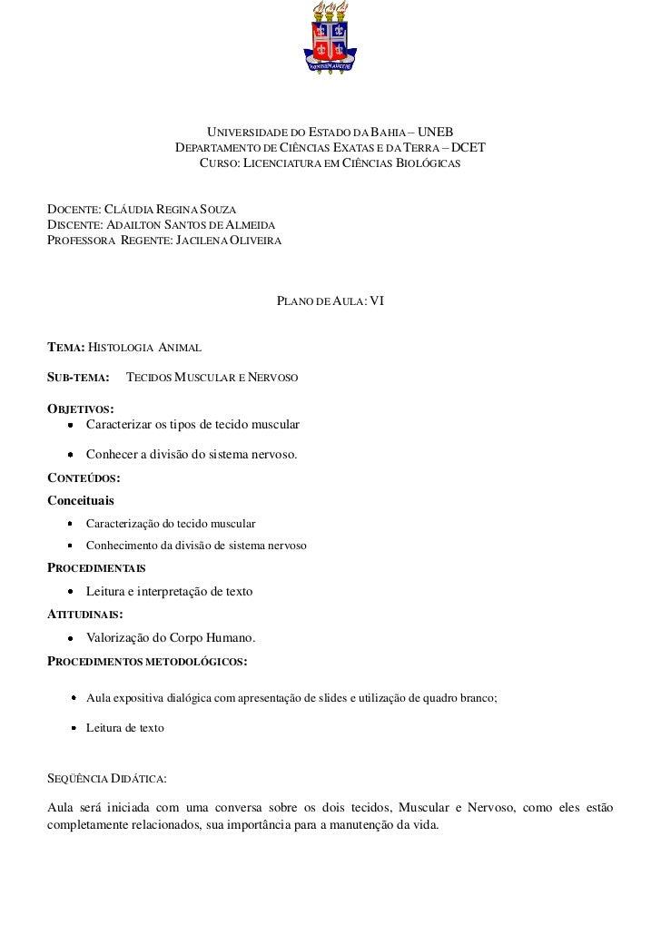 UNIVERSIDADE DO ESTADO DA BAHIA – UNEB                          DEPARTAMENTO DE CIÊNCIAS EXATAS E DA TERRA – DCET         ...