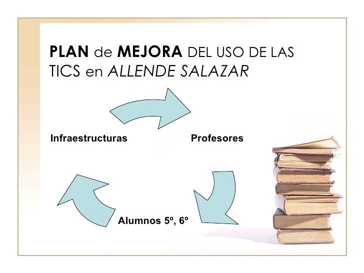 PLAN   de   MEJORA   DEL USO DE LAS  TICS  en   ALLENDE SALAZAR Profesores Alumnos 5º, 6º Infraestructuras