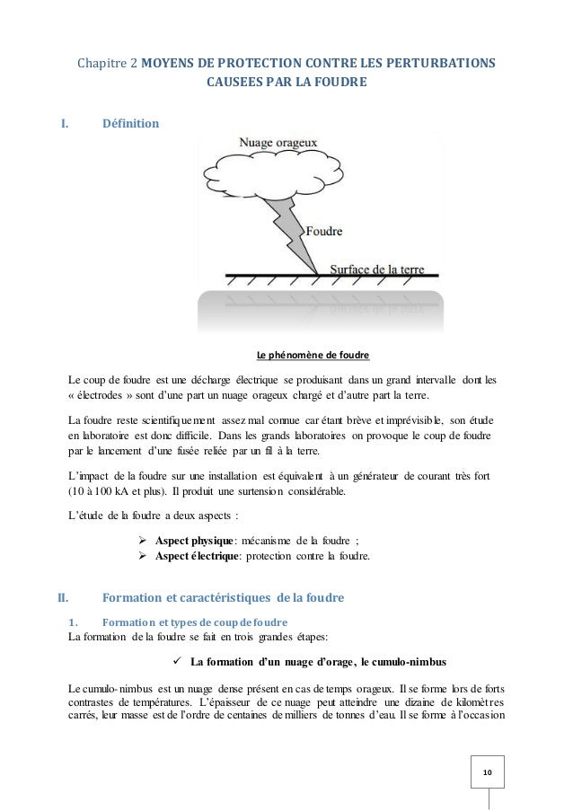 Etude des moyens de protections contre les perturbations electromagn - Coup de foudre definition ...