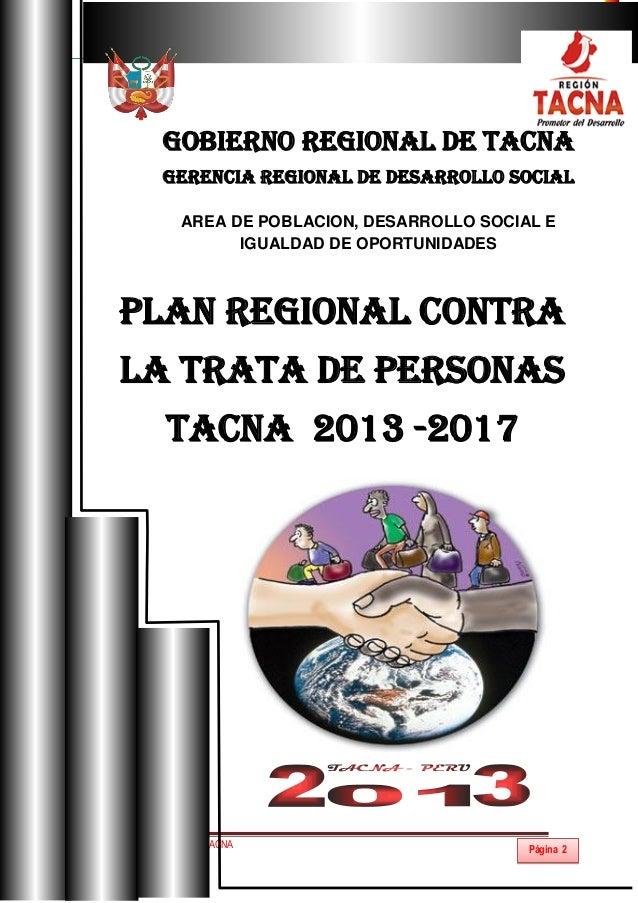 Plan regional de trata Slide 2