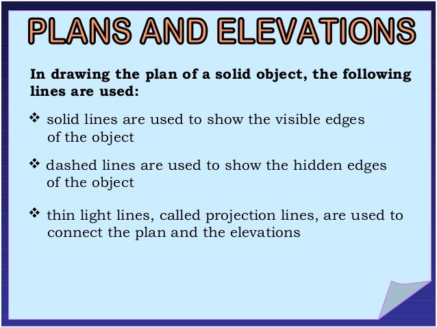 Elevation And Plan Difference : Plans and elevations