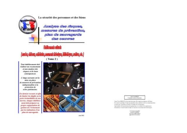 Plan sauvegarde des oeuvres 2012 musées monuments historiques tome 2