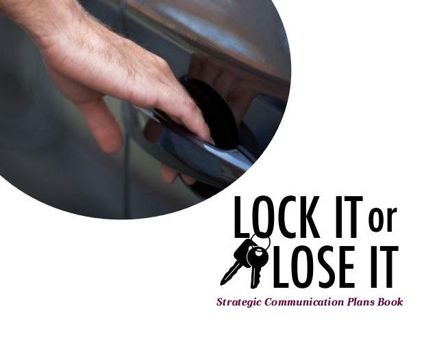 LOCK ITLOSE ITorStrategic Communication Plans Book