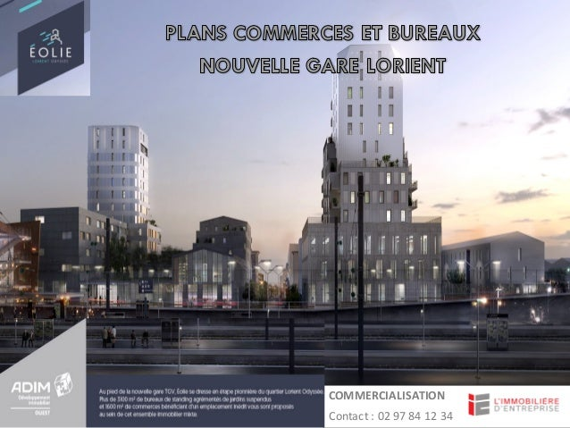Photo Bâtiment à vendre COMMERCIALISATION Contact	:	02	97	84	12	34