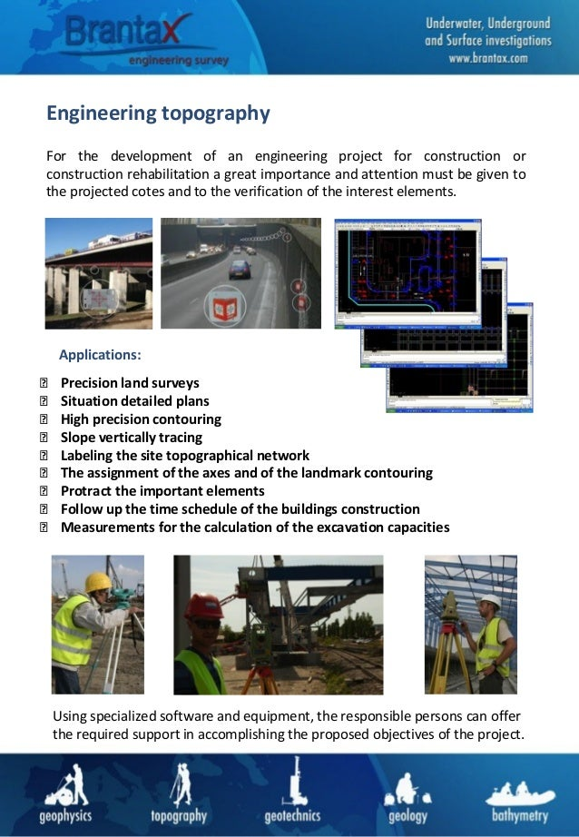 Engineering topography For the development of an engineering project for construction or construction rehabilitation a gre...