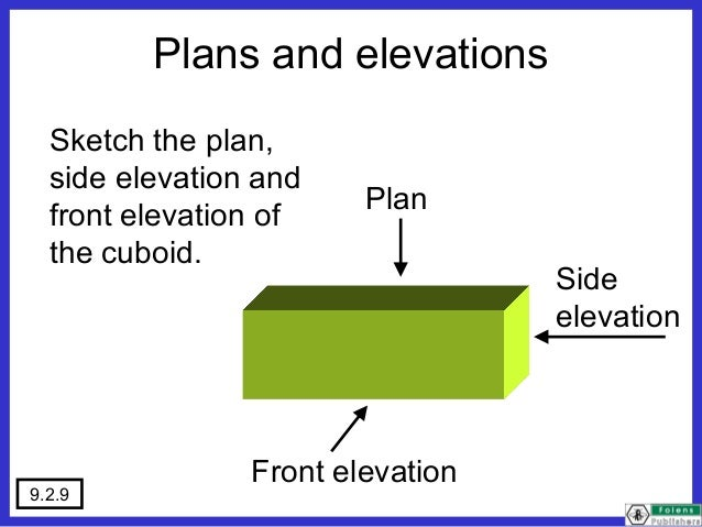 Plan Elevation Of A Cuboid : Plans elevations