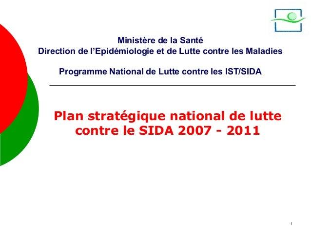Ministère de la SantéDirection de l'Epidémiologie et de Lutte contre les Maladies     Programme National de Lutte contre l...
