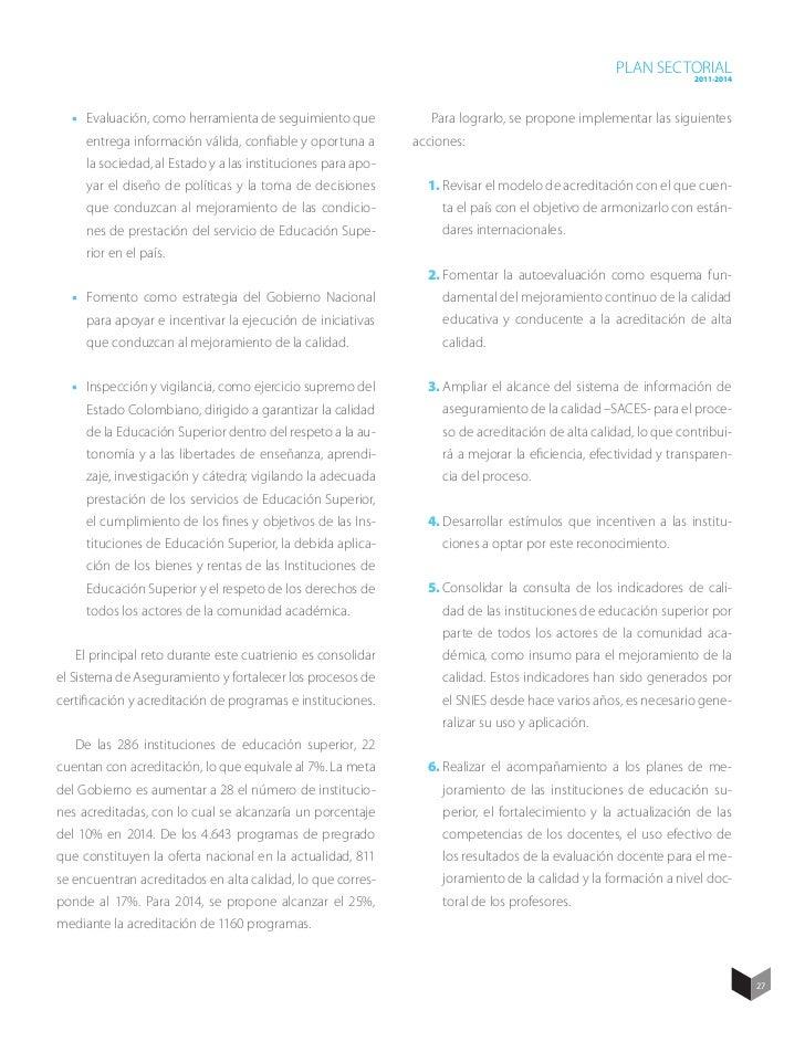 Plan Sectorial 2011-2014 Marco Teórico