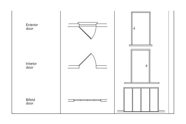 Exterior door .  sc 1 st  Pezcame.Com & Door Plan u0026 Curved Plan Swing/ Straight Plan Swing
