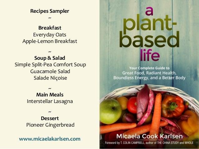 Recipes Sampler ~ Breakfast Everyday Oats Apple-Lemon Breakfast ~ Soup & Salad Simple Split-Pea Comfort Soup Guacamole Sal...