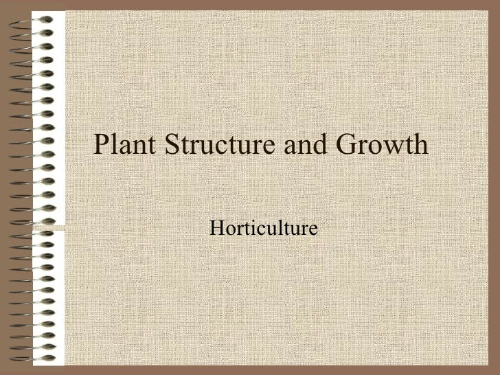 Plant Structure and Growth Horticulture