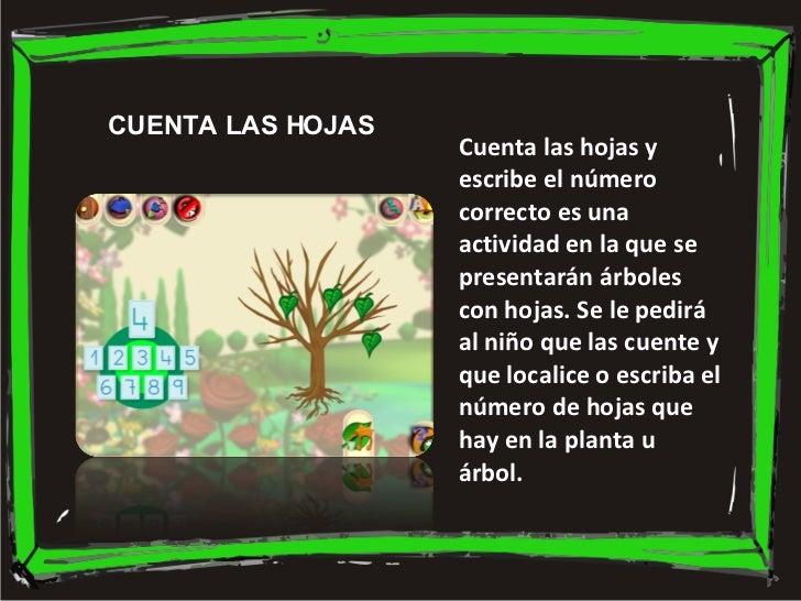 Cuenta las hojas y escribe el número correcto es una actividad en la que se presentarán árboles con hojas. Se le pedirá al...
