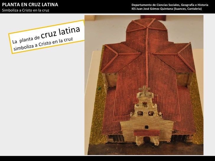 La  planta de  cruz latina  simboliza a Cristo en la cruz PLANTA EN CRUZ LATINA Simboliza a Cristo en la cruz Departamento...