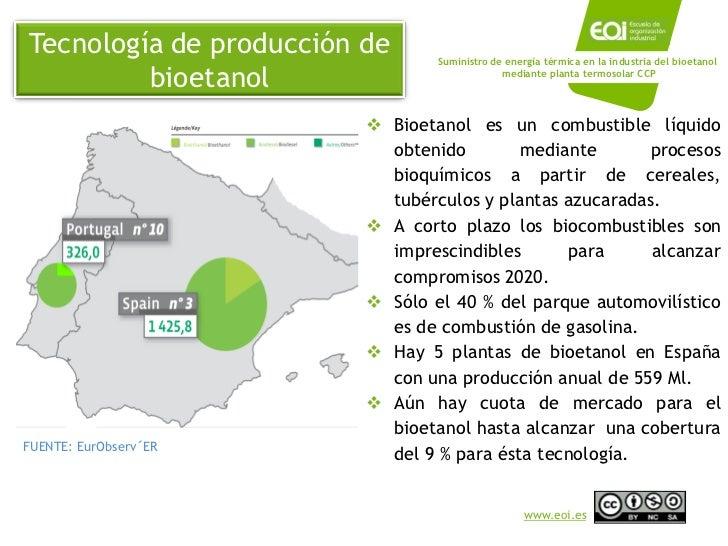 Captadores cilindroparabolicos en una planta de bioetanol - Precio de bioetanol ...