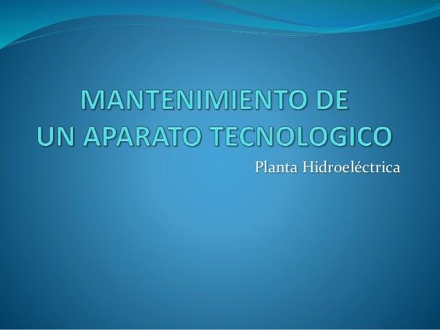 Planta Hidroeléctrica