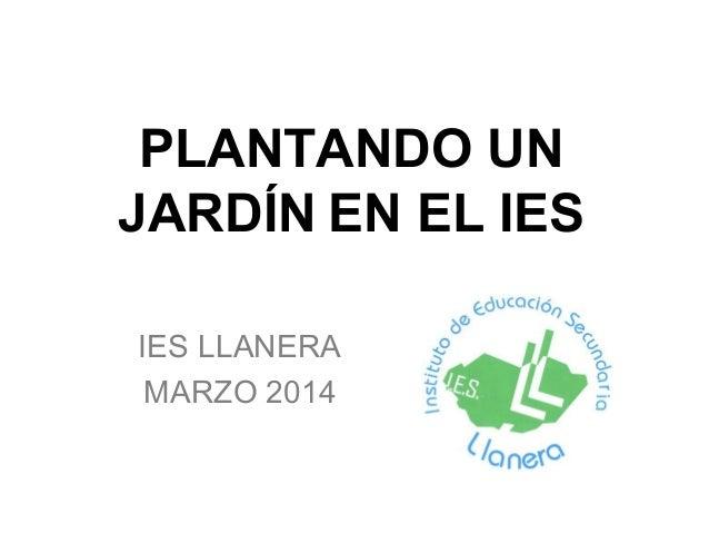 PLANTANDO UN JARDÍN EN EL IES IES LLANERA MARZO 2014