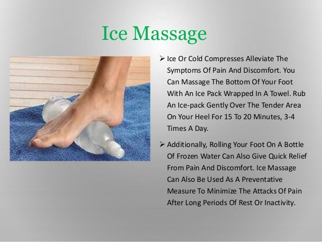 help plantar how fasciitis ice does