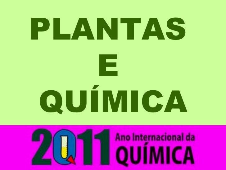 PLANTAS  E  QUÍMICA