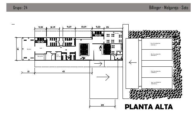 Billinger - Melgarejo - Soto  Grupo : 24  Mirador  Box. Investigación (habitad 1) Mirador  Hall  Recepción  Dep. Servicio ...