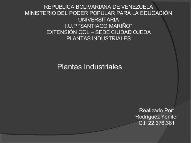 """REPUBLICA BOLIVARIANA DE VENEZUELA MINISTERIO DEL PODER POPULAR PARA LA EDUCACIÓN UNIVERSITARIA I.U.P """"SANTIAGO MARIÑO"""" EX..."""