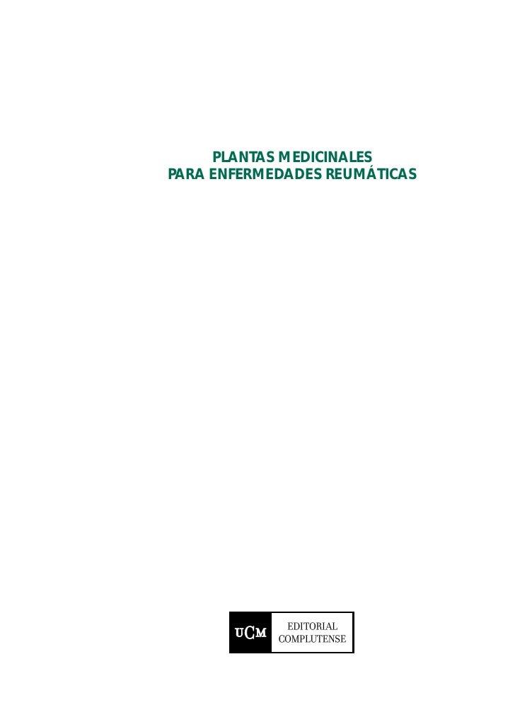 PLANTAS MEDICINALESPARA ENFERMEDADES REUMÁTICAS