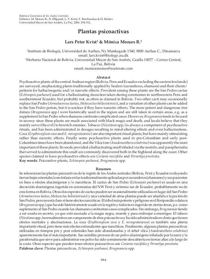 Botánica Económica de los Andes CentralesEditores: M. Moraes R., B. Øllgaard, L. P. Kvist, F. Borchsenius & & M. Moraes R....
