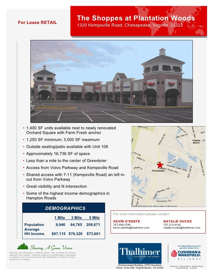 For Lease RETAIL                                                                             The Shoppes at Plantation Woo...