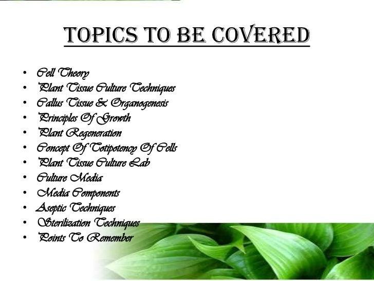 biotechnology topics