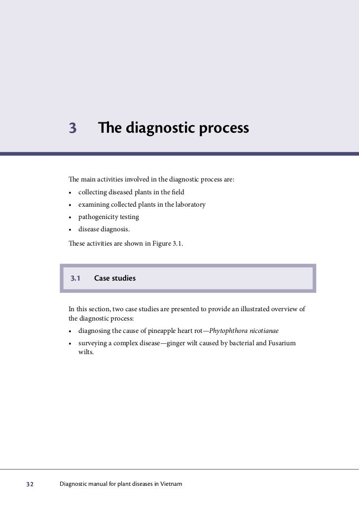 3          The diagnostic process        The main activities involved in the diagnostic process are:        • collecting...