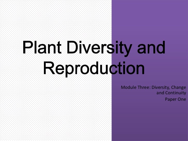 Module Three: Diversity, Change                and Continuity                     Paper One