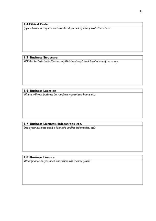 Business plan template 4 flashek Images