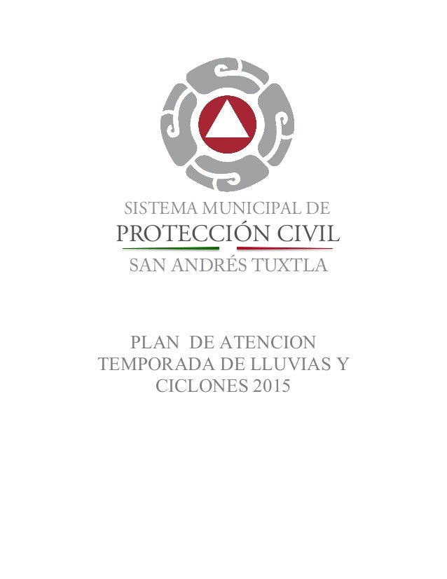 Plan Temporada De Lluvias 2015 Municipio De San Andres