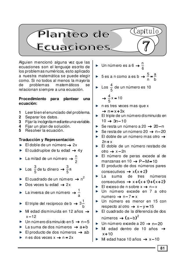 81 Alguien mencionó alguna vez que las ecuaciones son el lenguaje escrito de los problemas numéricos, esto aplicado a nues...