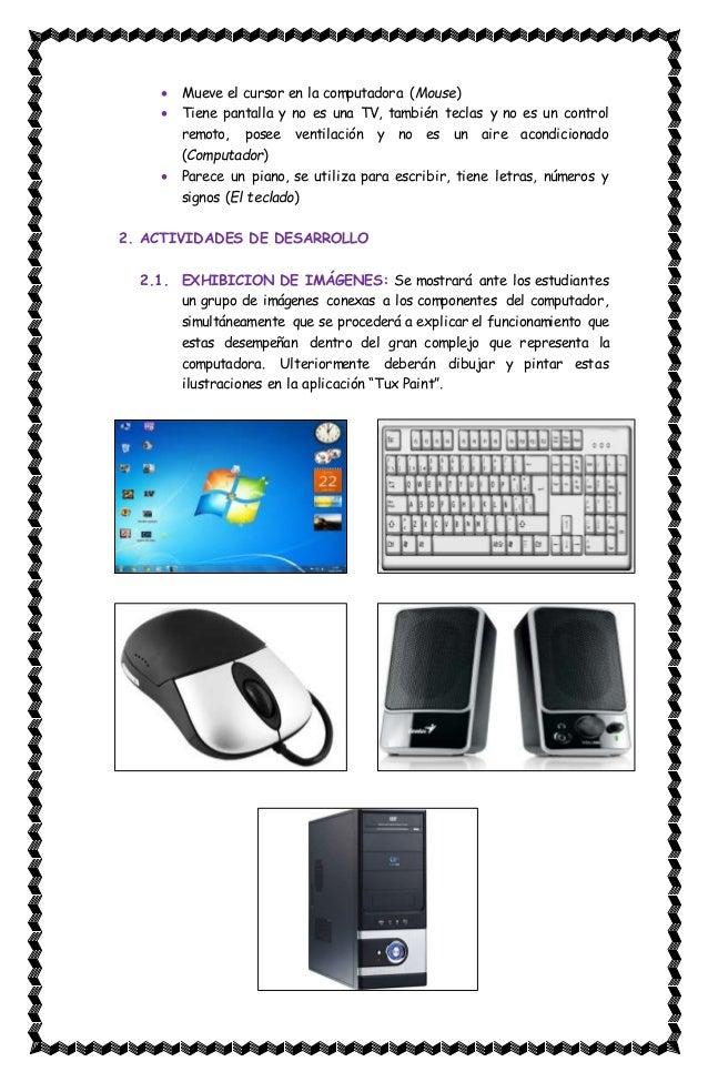 Plan de clase: El computador y sus partes
