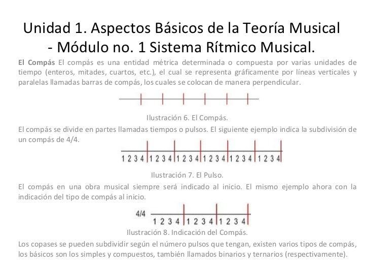 Unidad 1. Aspectos Básicos de la Teoría Musical - Módulo no. 1 Sistema Rítmico Musical. El Compás  El compás es una entida...