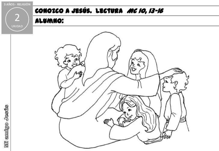 Dibujos Clase De Religion: Mi Clase De Religion Fichas Colorear Plantilla Infantil Fichas