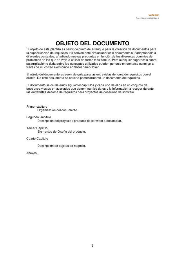 Plantilla de toma de requisitos softwarev 1.0