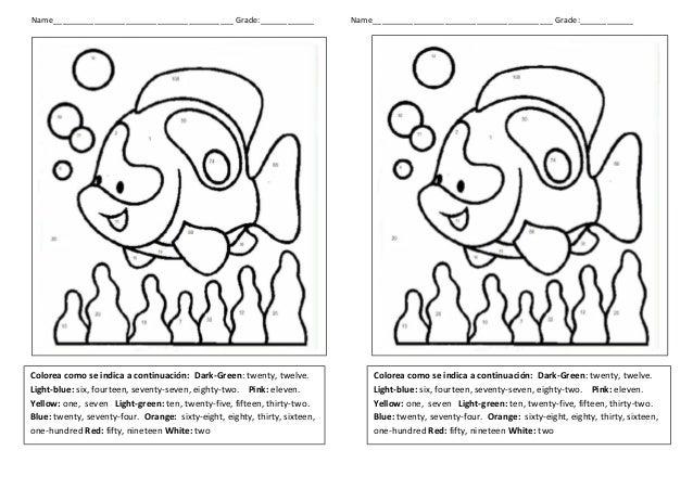 Pintar Por Números En Inglés Coloring By Numbers Dibujos Para Colorear