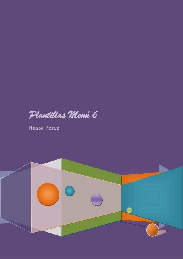 Plantillas Menú 6 Rossa Perez