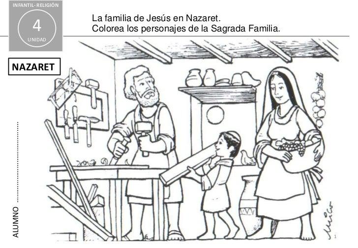 Imagen Para Colorear Sagrada Familia La Sagrada Familia De Jesús