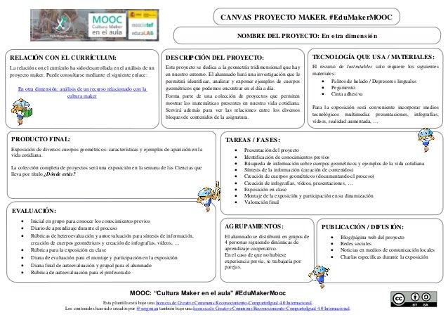 """MOOC: """"Cultura Maker en el aula"""" #EduMakerMooc Esta plantilla está bajo una licencia de Creative Commons Reconocimiento-Co..."""