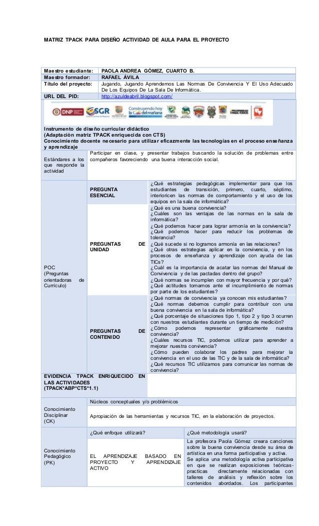 Plantilla matriz tpack actividad proyecto paola gomez y (1)