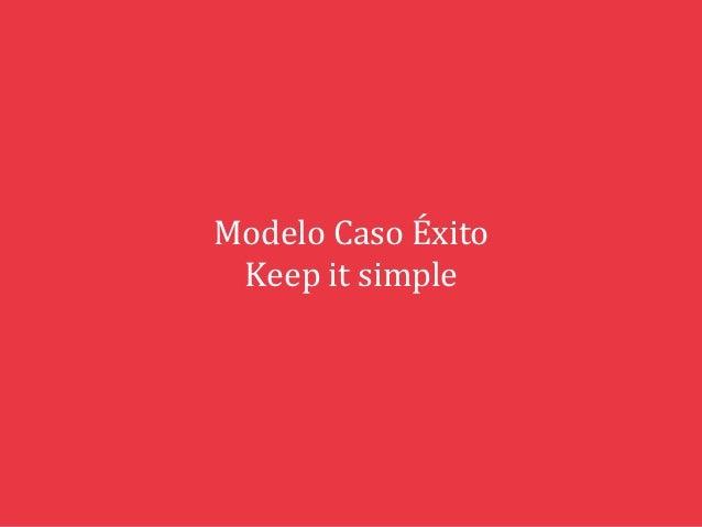 Modelo  Caso  Éxito   Keep  it  simple