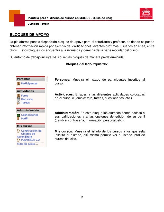 Plantilla para cursos moodle (guía de uso) 2014