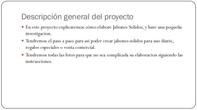 Proyecto de Elaboracion de Jabón Slide 3