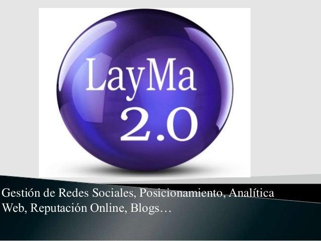 Gestión de Redes Sociales, Posicionamiento, Analítica Web, Reputación Online, Blogs…